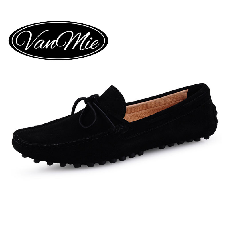 Vanmie Men Loafers Casual Men Shoes Leather Moccasins Men Slip On Loafers Shoes Suede Leather Men