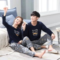 Big Promotion!!Fashion Autumn/Couples Matching Pajamas Clothing Home Suit Men/Women Sherpa Long Sleeve Pajamas Men Cotton