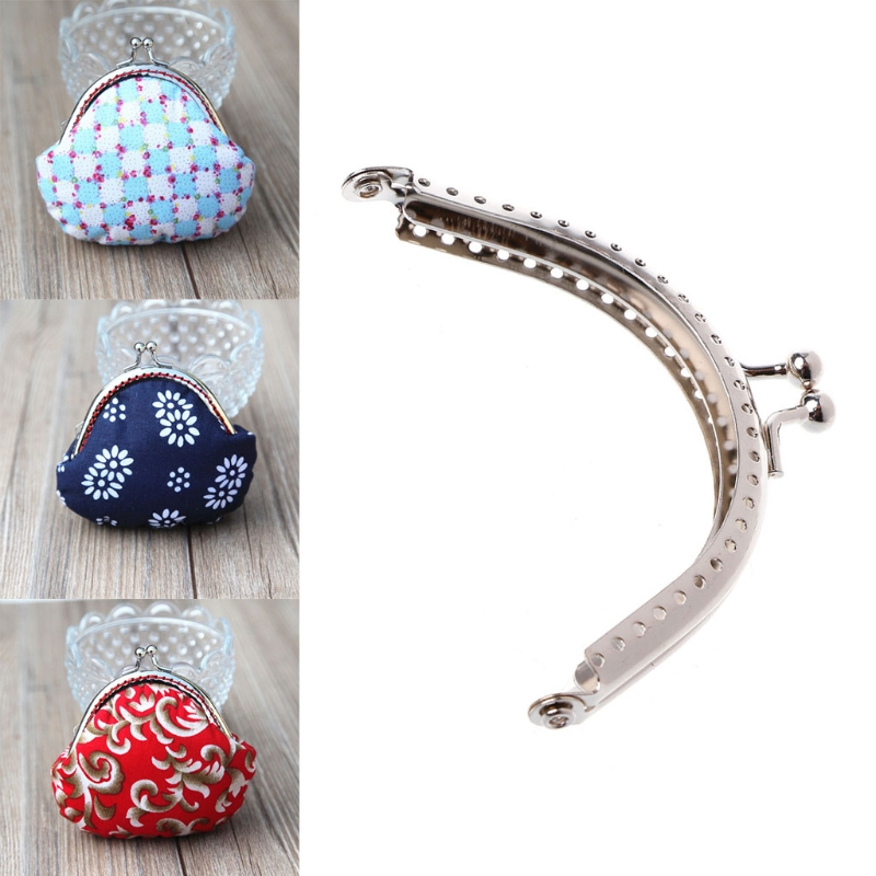 1PC  8.5cm Metal Coin Purse Bag DIY Craft Frame Kiss Clasp Lock Accessories Frame Handle For Bag