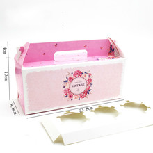 20 Pcs Cupcake Box With Window Handle circus Unicorn Roll Cake Kraft Paper Gift Packaging Party Favor Wedding Boxes
