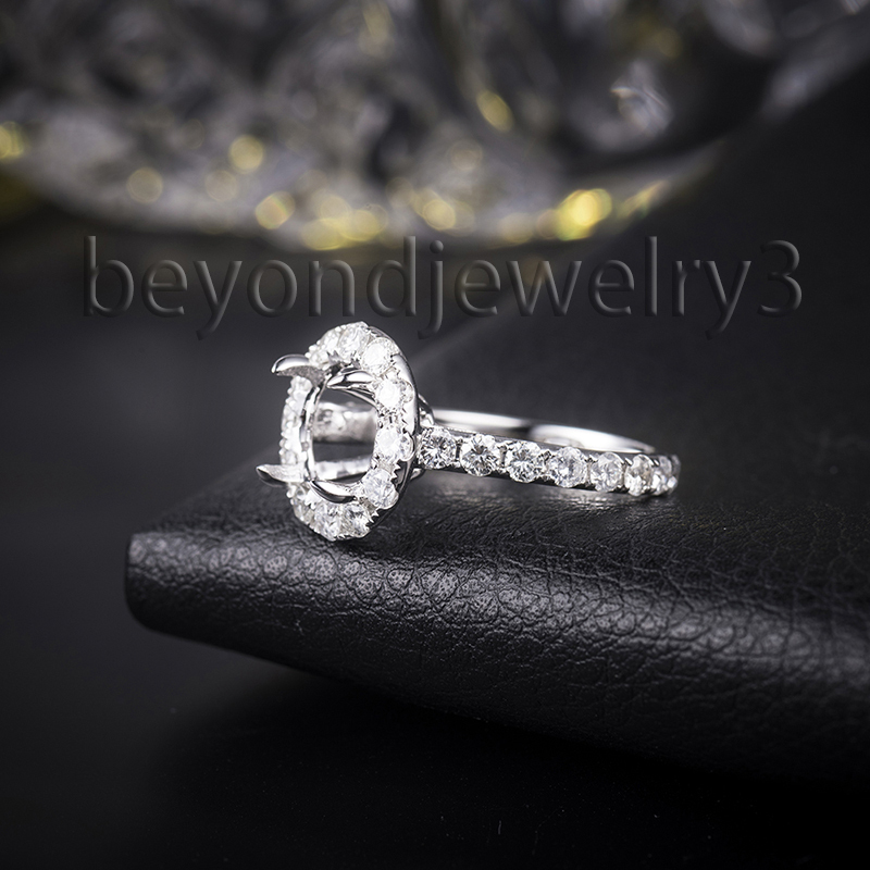 Full Cut SI Clarity Diamond Semi Mount Round 9.5mm Cut Setting Ring