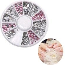 3pcs Diy Uv Gel Nail Art Crystal Stones Acrylic Supplies Shiny Jewelry Rhinestones For 3d Decoration Ongles Set Hot