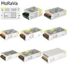 Fonte de alimentação, dc 12v 1a 2a 3a 5a 10a 12a 15a 20a 30a 40a transformador de iluminação para led tira adaptador de alimentação de comutação de luz