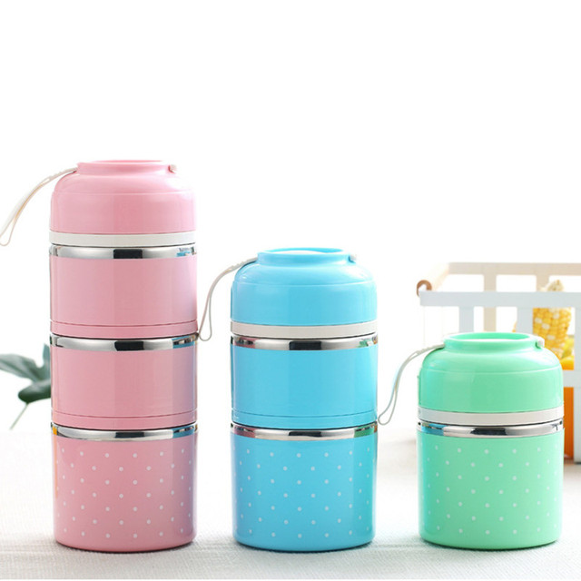 Japanese Thermal Lunch Thermos Cup Box Leak-Proof Stainless Steel Bento Box Kids Portable Picnic School Food Container Kitchen 1