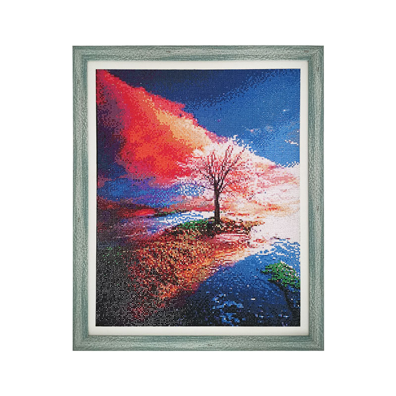 Four Seasons Tree Landscape DIY Diamond Painting Accessory Full Square Drill 5D Embroidery Cross Stitch Mosaic Home Decoration in Diamond Painting Cross Stitch from Home Garden