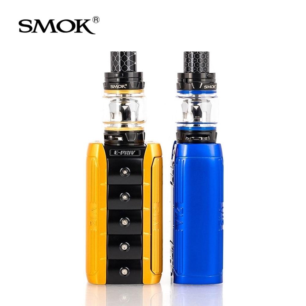 Original SMOK e priv Kit 230W con TFV12 Prince tanque 8ml + V12 Prince bobinas de malla para cigarrillo electrónico smok E priv box mod kit - 4