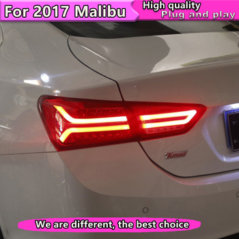Car Styling Tail Lights Assembly 2017 2018 For Chevrolet Malibu Taillight LED Tail Light Rear Lamp DRL With Dynamic turn signal