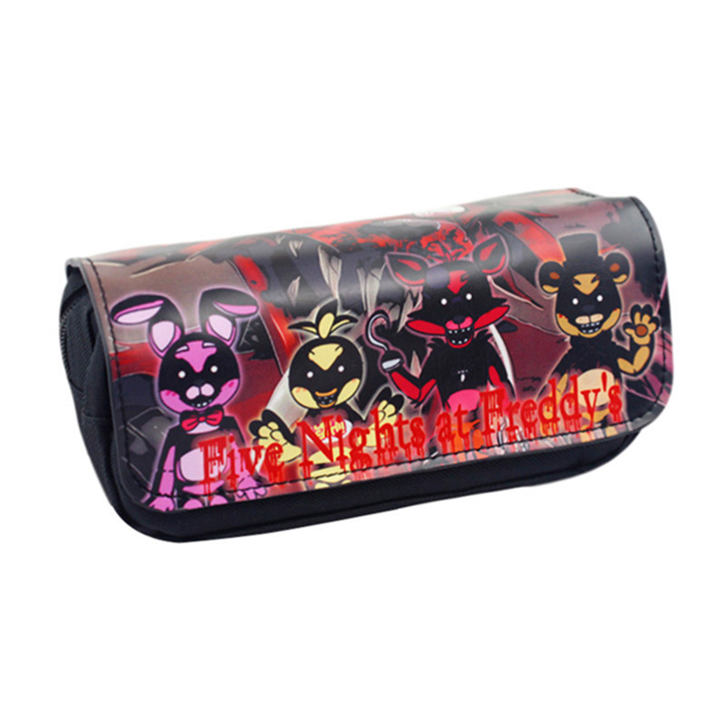 New Cartoon Pencil Pen Case Five Nights At Freddy`s /The Nightmare Before Christmas/Cosmetic Makeup Coin Pouch Zipper Bag