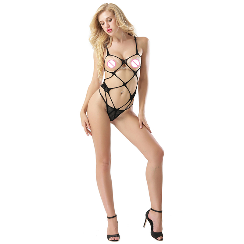Glamor <font><b>Sex</b></font> Lingerie Babydolls Open Bra Crotch Hollow Out Elastic Underwear Sexy Costumes Women Lenceria Hot Sell <font><b>2018</b></font> image