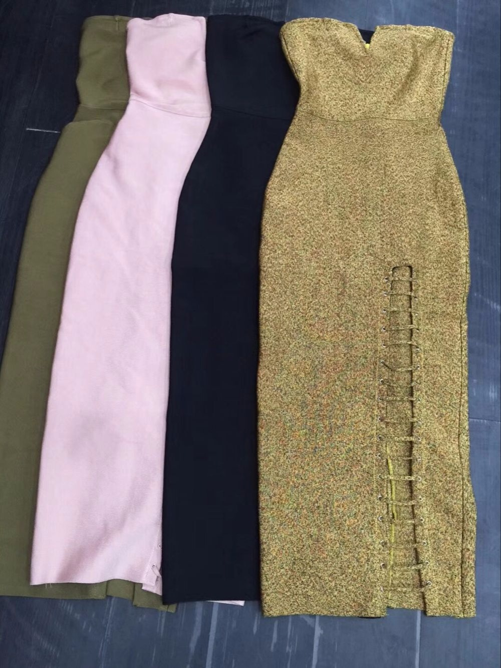 Partie Noir De Robe Stretch Soirée Rayonne Bandage Couleurs Bretelles Qualité 4 Haute knP80wO