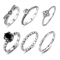 WOSTU Hot Sale 925  Sterling Silver Rings For Wome ...