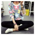 Spring & Autumn Tracksuit For Women Long Sleeve Pullover Tops Colorful Stars Designed Sweatshirt Female Fleece Hoodies Plus Size