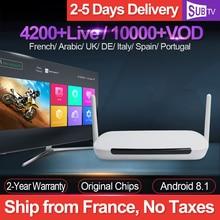IPTV France Leadcool Q9 RK3229 Android 8.1 Smart Tv Box With 1 Year SUBTV Iptv Code 4K Full HD French Arabic UK Portugal IP TV цена