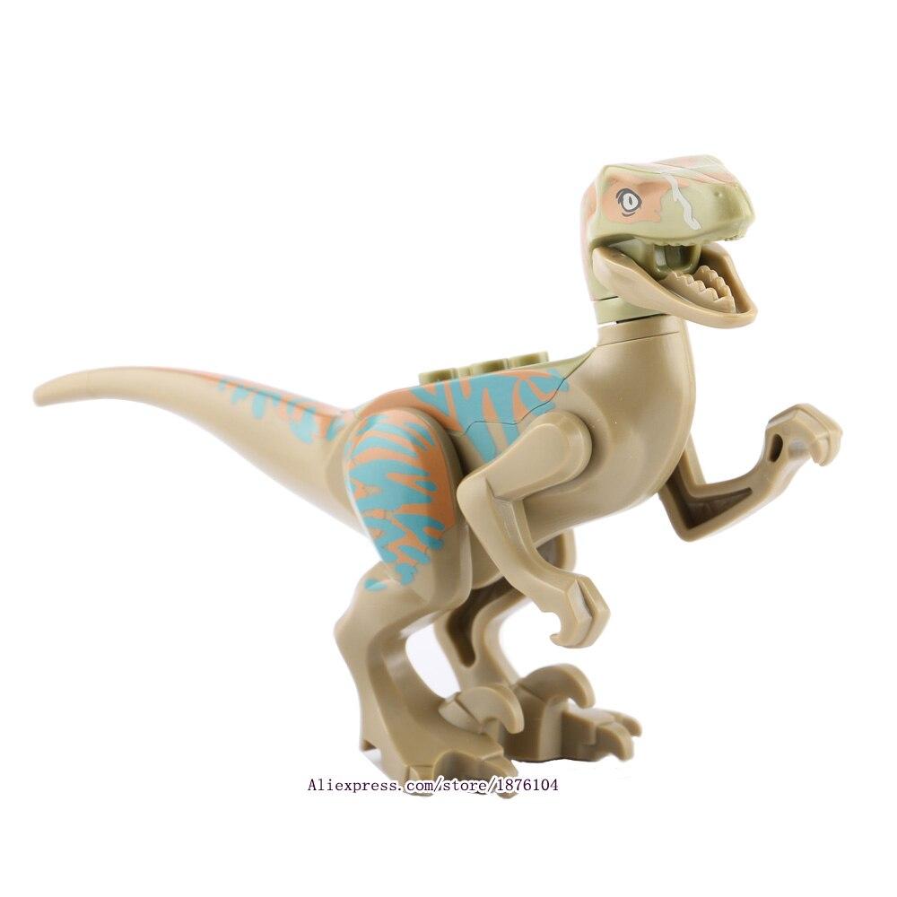 8pcs / lot legingINGly Jurassic World Dinosaurs Torpaq blokları - Uşaq konstruktorları - Fotoqrafiya 6