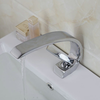 Sumptuous Best Deck Mount Sold Brass Chrome Finished Hot Cold Water Mixer Faucet Bathroom Basin Faucet Single Handle Mixer Taps