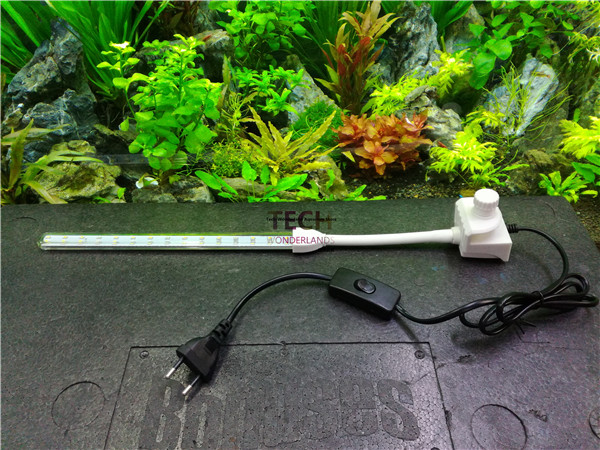 Crystal clamping lamp for aquarium clip on LED light fish tank blue and white lighting with EU plug free shipping