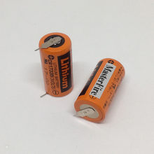 MasterFire New 10pcs/lot Original SANYO PLC Lithium Battery CR17335 3V Batteries With Tabs CR17335(3VOLTS)