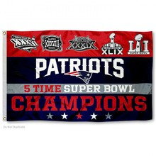 New England Patriots 2016 Super Bowl LI Champions Flag