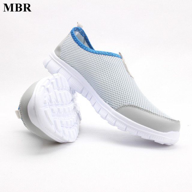 MBR Women Casual Shoes 2017 New Arrival Women's Fashion Air Mesh Summer Shoes Female Slip-on Plus Size 34-41 Shoes