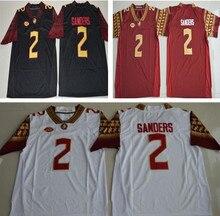 22719ed7595 2 Deion Sanders Florida State Seminoles (FSU) Embroidered College Football  Jersey Size S-