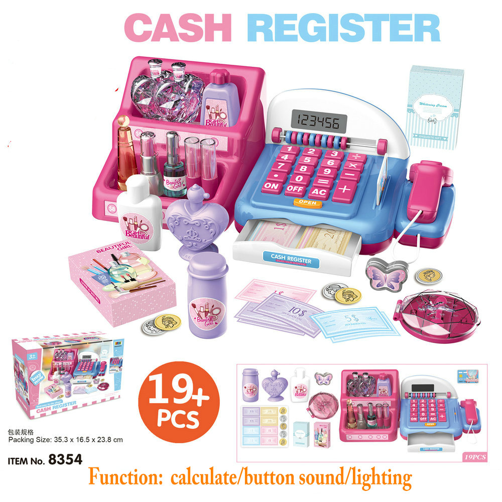 Kids Cash Register Toy with Calculate Sound Supermarket ...