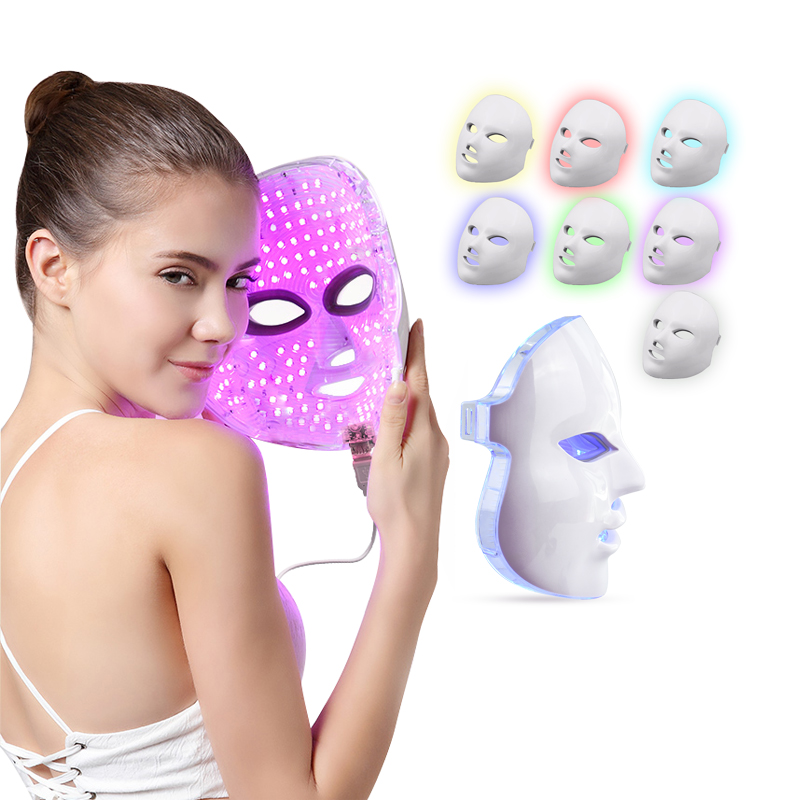 7 Colors LED Mask Face Mask Machine Photon Therapy Light Skin Rejuvenation Facial PDT Skin Care Beauty LED Mask Facial Spa Salon relay h 463 1230 85vdc 10 feet