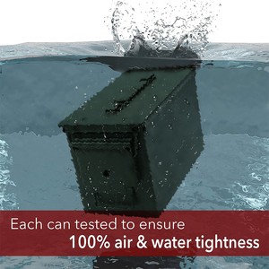 Image 2 - Caja de almacenamiento de munición de Metal, caja de soporte de acero sólido militar, resistente al agua, para almacenamiento de objetos de valor de bala a largo plazo, 30 + 50 Cal/Set