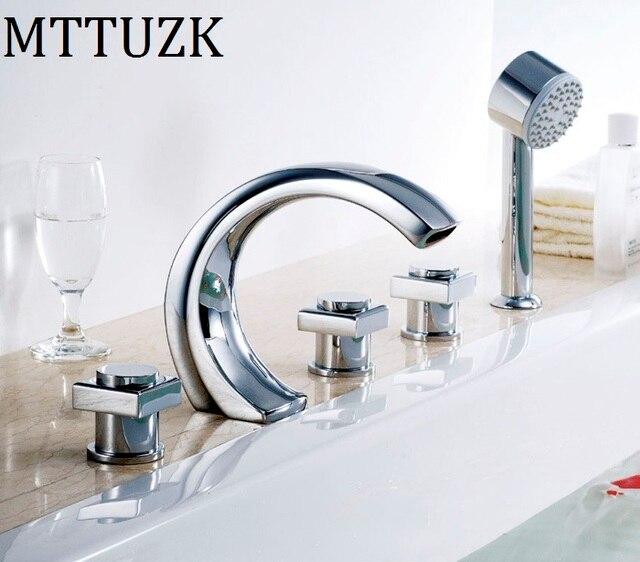 MTTUZK Brass Material Chrome Finish Bathroom Faucet Bathtub ...