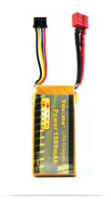 You&me Lipo battery 11.1V 1500MAH 25C 3S Max 50C for RC Boat Helicopter Quadcopter