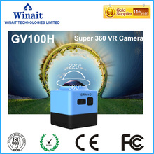 360diploma large viewing fisheye lens mini motion digicam GV100H LED mild flash wifi App distant management chinese language sport camcorder