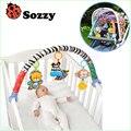 1 шт. Sozzy детские висячие baby blue elephant и розовый кролик музыка игрушка Детская Кровать и Коляска Игрушки Трещотки Младенца