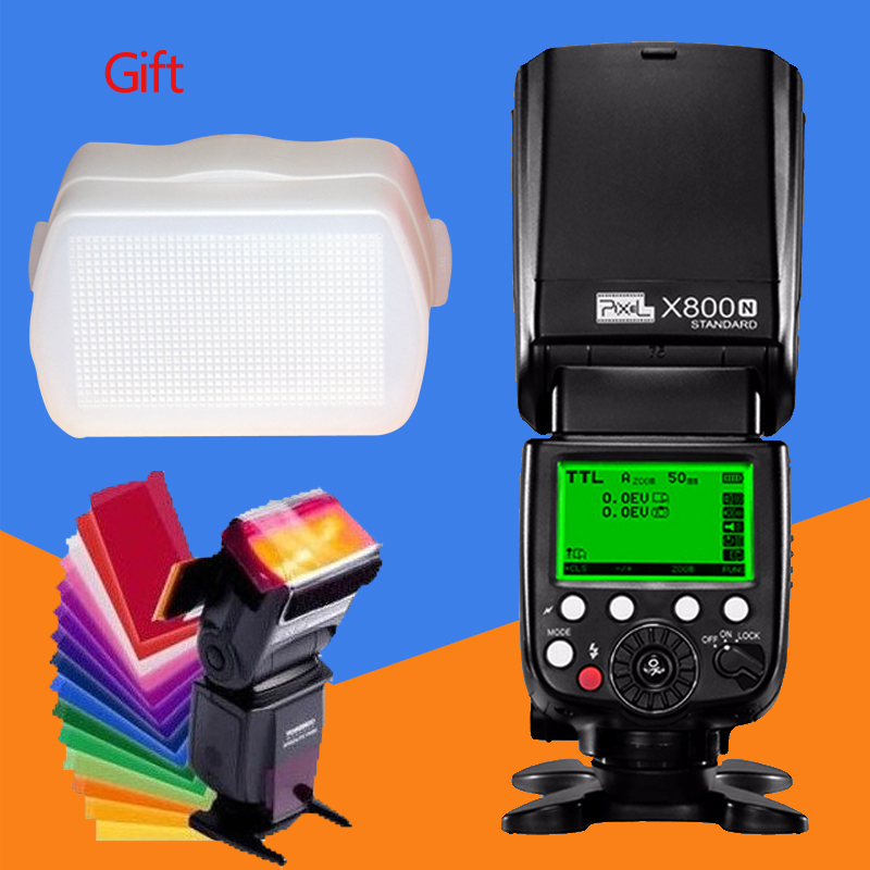 Pixel x800n standard wireless i-ttl flash speedlite hss 1/8000 s for nikon D810A D800E D800 D700 D750 D810 D610 D600 D500 D90 D5 dste mb d12 multi power battery grip for nikon d800 d800e d810 camera black