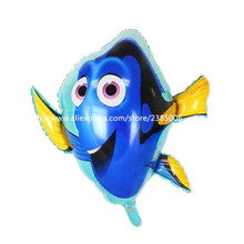 10pcs/lot Dory fish balloons large size animal foil balloons children love classic toys dolly inflatable helium ballon