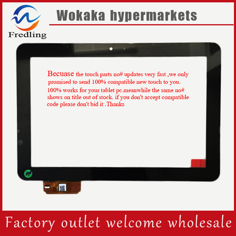 Black New 10.1 inch DNS AirTab MF1011 Tablet touch screen panel Digitizer Glass Sensor replacement Free Shipping new 7 inch tablet capacitive touch screen replacement for dns airtab m76 digitizer external screen sensor free shipping