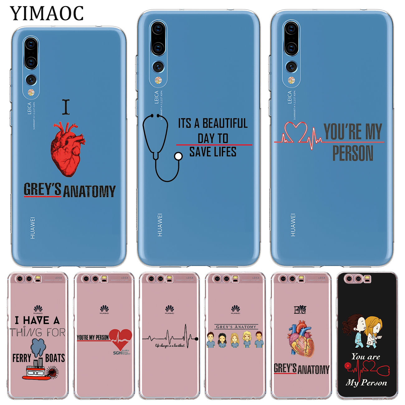 YIMAOC Grey's Grey is Anatomy TV Soft Silicone Phone Case for Huawei P30 P20 Pro P10 P8 P9 Lite 2017 2016 2015 P smart Z 2019 image