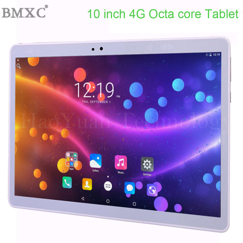 2 in 1 dengan Keyboard 10 inci tablet PC 4G LTE Android 7.0 10Core 4GB RAM 64GB ROM WiFi GPS 10.1 IPS 1920 * 1200 + Hadiah 10.1 tab