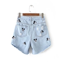 Vintage embroidery Mickey shorts