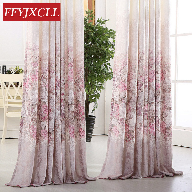 Europe Luxury Jacquard Floral Tulle for Living Room Shading Rate 41% -85% Decoration Curtain Window Bedroom