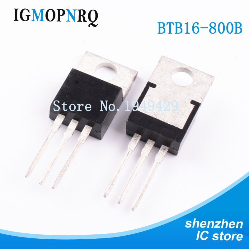 10pcs free shipping BTB16-800B BTB16-<font><b>800</b></font> BTB016 Triacs <font><b>16</b></font> Amp <font><b>800</b></font> Volt TO-220 new original image