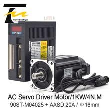 WaveTopSign драйвер серводвигателя 1000 W 4N. MAC серводвигателя 90ST-M04025 + AC драйвер серводвигателя 220 V AASD 20A для гравера и резки