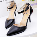 Envío de señora punta estrecha tacones finos bombas de las mujeres zapatos de Verano nueva