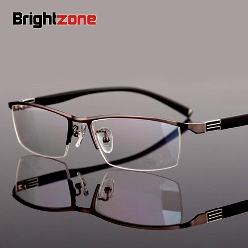 2018 moda de alta calidad estilo Glasse lectura nueva presbicia medio borde sola visión gafas para hombres hipermetropía marco óptico