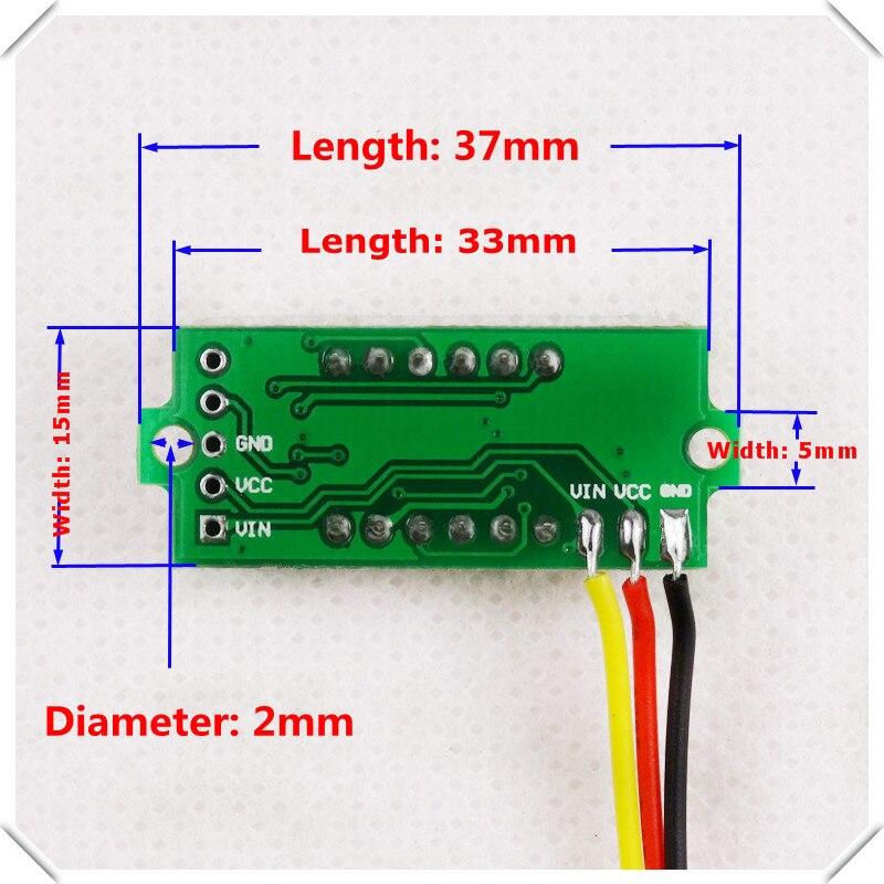 mini 4 bit 0 36 digital voltmeter 0 33v three wires voltage panel rh aliexpress com Omega Speedometer Wiring wiring digital voltmeter
