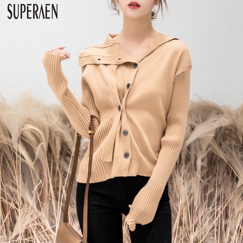 Tops Solide Mode 2019 Cardigan Femmes Printemps Femelle Couleur De Chandail  Nouveau Asymétrique Coffee Superaen Manteau Sauvage Tricot 50f6wtZWzq de2e5e48f95a