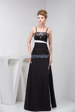 free shipping 2014 elie saab design new arrival hot seller custom embroidery evening gown luxury real photo black dress
