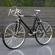 Diecast modelo brinquedos 1:10 corrida bicicleta réplica miniatura coleções
