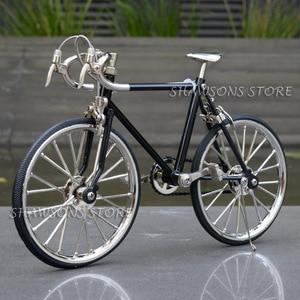 Image 1 - Diecast דגם צעצועי 1:10 מרוצי אופני אופניים העתק מיניאטורי אוספים