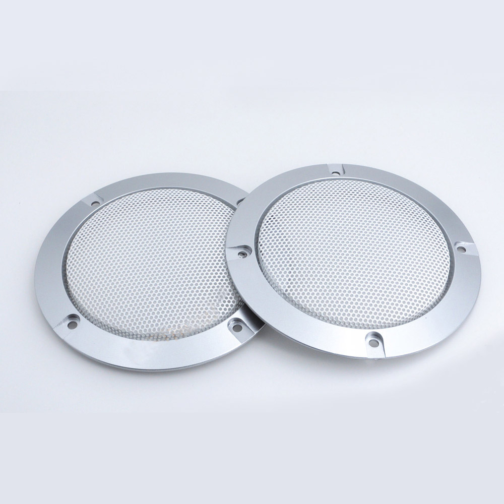 """2pcs 8/""""inch White Speaker grille Protective cover Decorative circle Dust Net"""