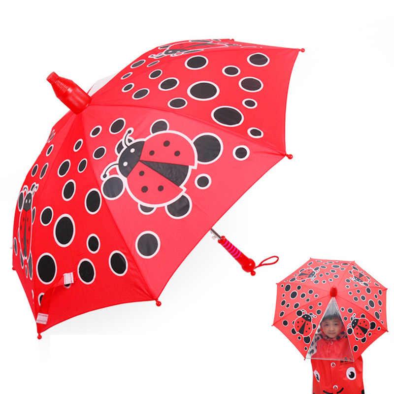 Yesello Водонепроницаемый случае длинный зонт для детская ветровка устойчивостью Водонепроницаемый крышка зонтики мультфильм Портативный Путешествия Зонтики