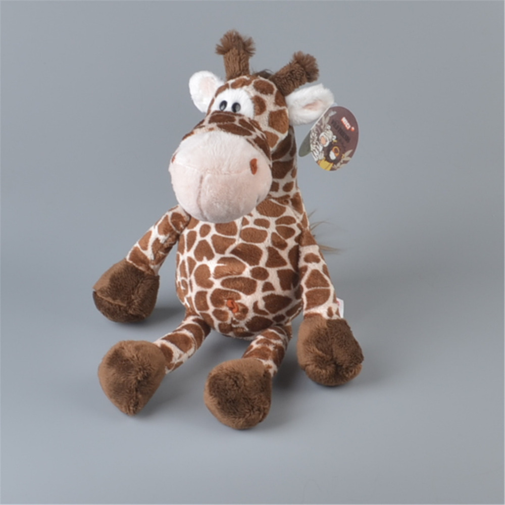 NICI 35cm Dark Color Forest Giraffe Stuffed Plush Toy, Baby Kids Doll Gift Free Shipping